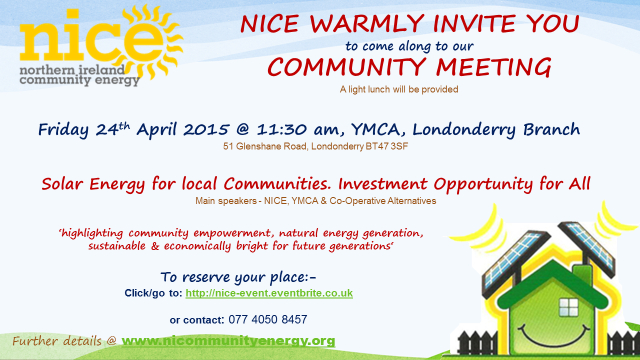 NICE North West Community Meeting Invitation